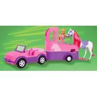 Steffi Love Штеффи Джип с лошадью и трейлером Jeep and horse trailer
