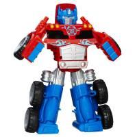 Playskool Трансформер большой Оптимус Прайм Heroes Transformers Rescue Bots Optimus Prime Rescue Trailer