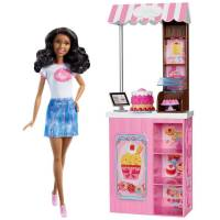 Barbie Афроамериканка в кафе Careers Bakery Shop Playset with African-American Doll