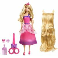 Barbie Барби Сказочно длинные волосы розовая Endless Hair Kingdom Princess Doll, Pink