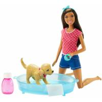 Barbie Барби Веселое купание щенка афро-американка Splish Splash Pup Playset African-American