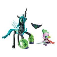 My Little Pony Королева Кризалис и дракончик Спайк серии Стражи Guardians of Harmony Queen Chrysalis v. Spike the Dragon