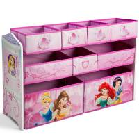 Delta Органайзер для игрушек с 9-ю ящиками Принцессы Диснея Disney Princess Deluxe Multi Bin Organizer