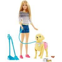 Barbie с собачкой Уход за любимцами на прогулке Барби Walk & Potty Pup DWJ68