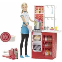 Barbie Барби Шеф итальянской кухни Spaghetti Chef Doll & Playset