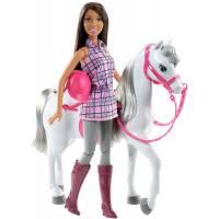 Barbie Барби брюнетка Прогулка верхом Doll & Horse