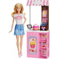 Barbie Барби в магазине сладостей Careers Bakery Shop Playset with Blonde Doll