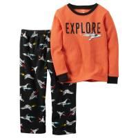 Пижама с флисовыми штанишками Carters Космос