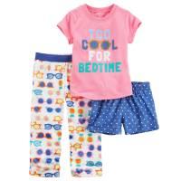 Пижама тройка для девочки Carters Крутая