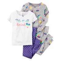 Комплект детских пижам для девочки Carters Радужные планеты