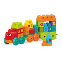 Mega Bloks Конструктор Поезд алфавит 60 дет. ABC Learning Train Building Set DXH35
