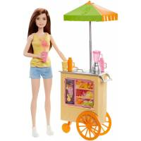 Barbie Барби смузи-шеф брюнетка Careers Smoothie Chef Playset with Brunette Doll