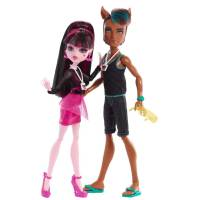 Monster High - Clawd Wolf and Draculaura Music Festival GIFTSET Набор кукол (Дракулаура и Клод Вульф)