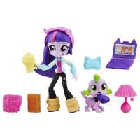 My Little Pony Equestria Girls Minis Твайлайт Спаркл с питомцем и аксессуарами Twilight Sparkle Slumber Party Set