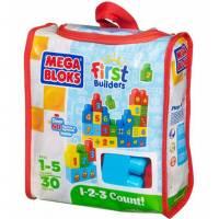 Mega Bloks конструктор цыфры 30 деталей First Builders 1-2-3 Count