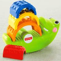 Fisher Price Пирамидка Крокодил Small crocodile Stacked blocks educational