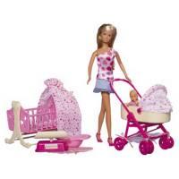 Simba Игровой набор Штеффи и новорожденный ребенок Steffi Love & New born baby Play set