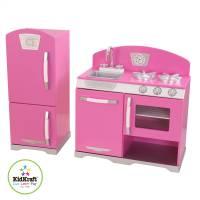 KidKraft Игровой набор розовая Ретро кухня с холодильником Pink Retro Kitchen & Refrigerator Toy