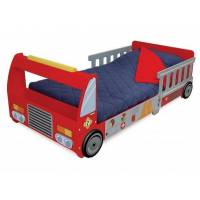 Kidkraft Детская кровать для мальчиков пожарная машина Fire Truck Toddler Bed