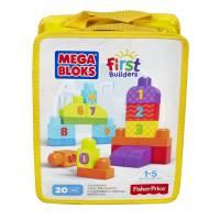 Mega Bloks Учимся считать 20 деталей First Builders 1-2-3 Count 20 pcs