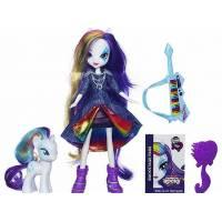 My Little Pony Девочки еквестрии Радужный рок Рарити и фигурка Рарити Equestria Girls Rainbow Rocks Doll & Pony Set Rarity