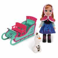 Disney Игровой набор Холодное сердце Анна в санях и Олоф Frozen Princess Anna Adventure Toddler Doll Snow Sleigh and Olaf Snowman Transforming Toy