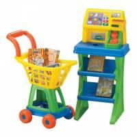 American Plastic Toys Игровой набор магазин с тележкой My Very Own Shop N Pay Market Set