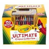 Crayola 152 восковых мелка в пластиковом органайзере с точилкой Ultimate Crayon Case 152-Crayons