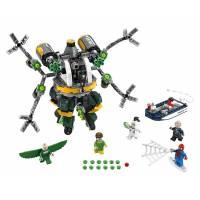 LEGO Super Heroes Супер герои Человек-паук в ловушке Доктора Осьминога Spider-Man Doc Ock's Tentacle Trap Building Kit 76059