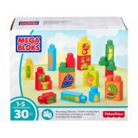 Mega Bloks Первые строители Овощи и фрукты 30 деталей First Builders Stacking Snacks Building Kit