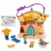 Disney Animators' набор Мини аниматор Аладдин Жасмин c домиком Littles Aladdin Jasmine Surprise Feature Playset