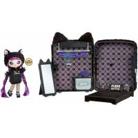 Na! Na! Na! Surprise Мягкая куколка с рюкзачком спальня котик 569749 Backpack Bedroom Black Kitty Playset