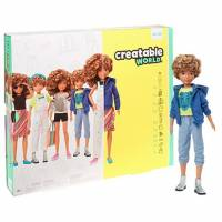 Creatable World Кукла Создаваемый мир светлые кудрявые GGG56 Deluxe Blonde Curly Hair Character Kit Customizable Doll