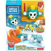 Mega Bloks First Builders Конструктор Пингвин GKX67 Bricks Peek A Bloks Launch and slide Penguin