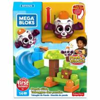 Mega Bloks First Builders Конструктор Панда GKX66 Bricks Peek A Bloks Launch and slide Panda