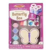 Melissa & Doug Шкатулка Бабочка оформительский набор 8853 Decorate-Your-Own Wooden Butterfly Box Craft Kit