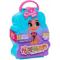 Hairdorables S4 Хэрдораблс ароматная куколка сюрприз с сюрпризами 23741 Collectible Scented big hair