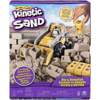 Kinetic Sand Набор кинетического песка 454 грамма с бульдозером 6044178 Dig & Demolish Truck Playset