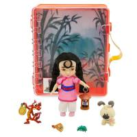 Disney Animators' мини аниматоры Мулан с дракончик Мушу в чемоданчике Collection Mulan Mini Doll Playset