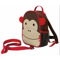 Skip Hop Zoo Мини рюкзак с родительским ремешком Обезьяна Monkey Safety Harness Backpack
