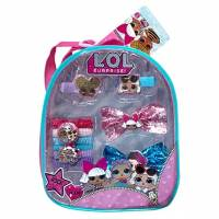 L.O.L Surprise Маленький рюкзачок с резинками и заколками 11 Pieces Mini Backpack Complete Hair Accessories For Girls