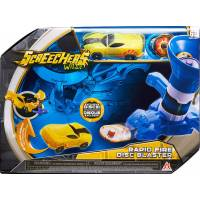 Screechers Wild  Дикие Скричеры Пускатель Дисков US683153 Rapid Fire Disc Blaster Flipping Morphing Toy Car Vehicle Blue