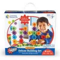 Learning Resources Конструктор шестеренки Gears! Gears! Gears! Deluxe Building Set 100 Pieces