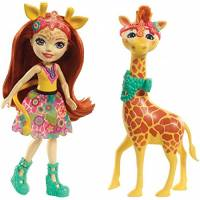 Enchantimals Джиллиан Жираф и Паул FKY74 Gillian Giraffe Dolls