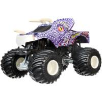 Hot Wheels Monster Jam Внедорожник джип 1:24 Scale Атака юрского периода Jurassic Attack Purple Vehicle