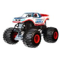 Hot Wheels Monster Jam Внедорожник джип капитан америка 1:24 Scale Captain America Die-Cast Vehicle