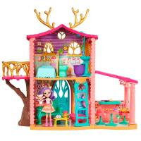 Enchantimals Домик Данессы Дир питомец олень FRH50 Cosy House Playset with Danessa Deer Doll