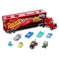 Disney Тачки 3 Говорящий Мак и 8 тачек Mack Die Cast Carrier 8-Car Set Cars 3