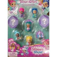 Fisher-Price Шиммер и Шайн набор из 8 фигурок Shimmer Shine Teenie Genies S2 #13 Genie Toy 8 Pack