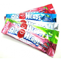 AirHeads Конфеты поштучно 6 вкусов Bars Chewy Fruit Candy Variety Pack Party Halloween 90 Count